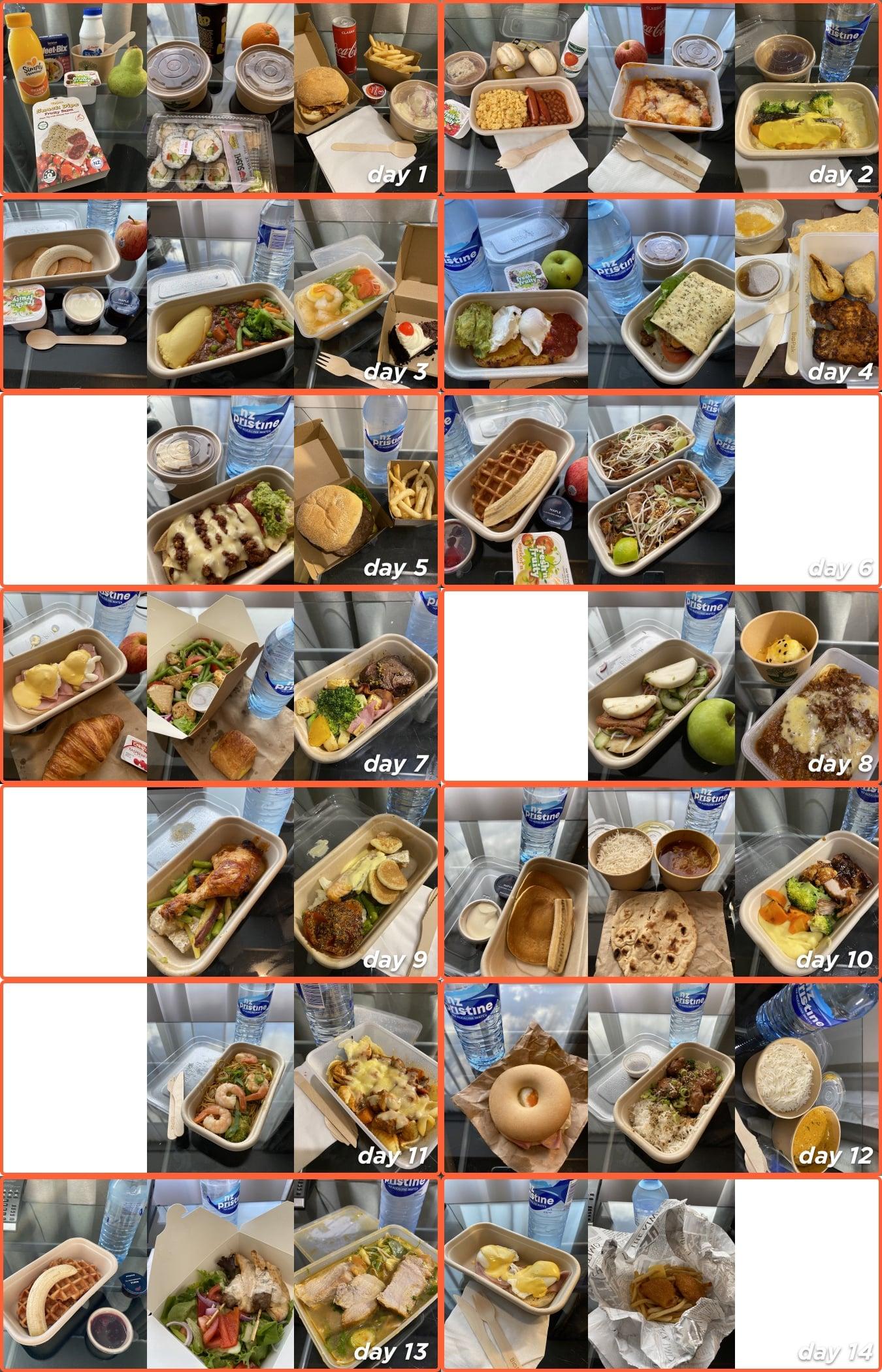 [写真]隔離施設での食事